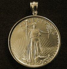 Big Roman Coin Pendant Ancient Necklace Rustic Mens Penda
