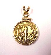 Stunning Philharmonic Gold Coin Pendant