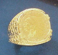 Gents U.S. $2-1/2 Indian Gold Coin Ring