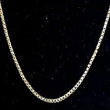Try our Handmade 14k Italian Gold Box Chain!