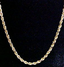 Try our Handmade 14k Italian Gold Rope Chain!