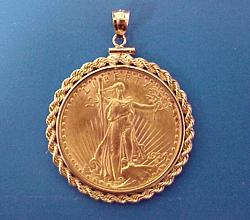 $20 St. Gaudens Gold Coin Rope Stylel