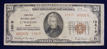 Very rare $20 from Lewiston, Idaho!