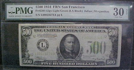 PMG Certified San Francisco Note