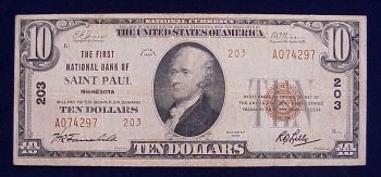 Saint Paul Minnesota National Bank note