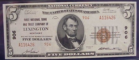 Gem Lexington, Kentucky Banknote!