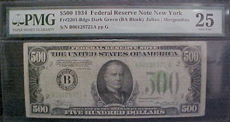 PMG Certified New York Note