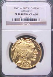 [American Buffalo Proof Gold Coin (back date)]