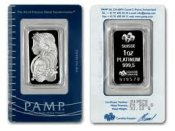 [1 oz. Platinum Bar in Cert. Pack (Swiss)]