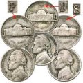 [VG & Better 1942-1945 Wartime Nickels]