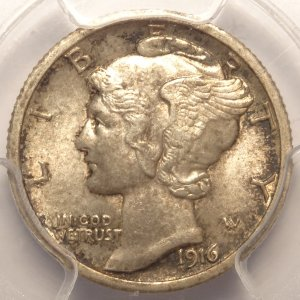 Rare 1916-D Mercury Dime MS63 FB (PCGS)