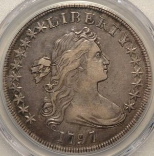 Popular Early 1797 Bust Silver Dollar   $6,495.00