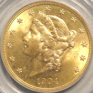 Better quality 1904-P  MS63 PCGS $1,695.00