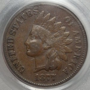 Prized Original 1877 Indian Cent XF45 PCGS