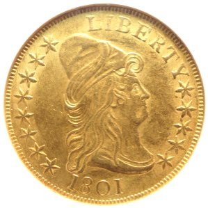1801 Draped Bust $10 Gold Coin AU58 (NGC)