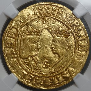 1487 Spain Gold - Financed Columbus Voyage!