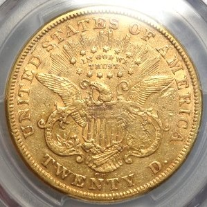Historical 1874-CC $20 Gold Coin $3,595.00