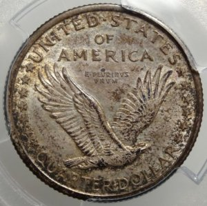 (reverse)Beautiful Original 1916 Standing Liberty Quarter