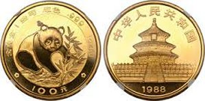 1988 1oz. Panda gold only $1,239.00 ea.