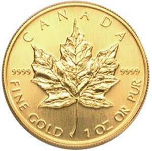 1 oz. Canadian .9999 Gold Coin