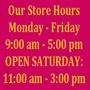 THIS WEEKS MJPM STORE HOURS