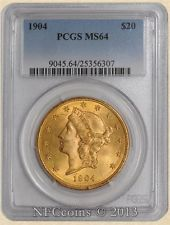 Certified U.S. $20 Gold Liberty only $1,775